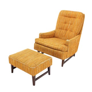 Selig Lounge Chair and Matching Ottoman with Upholstery