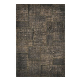 Turkish Over-Dyed Distressed Patchwork Area Rug - 6' X 9'