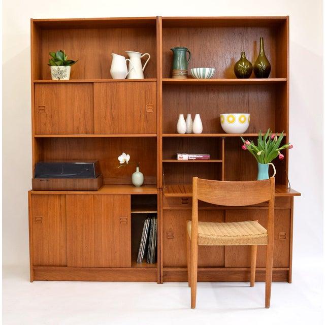 Image of Danish Teak Wall Unit/Desk/Stereo Cabinet
