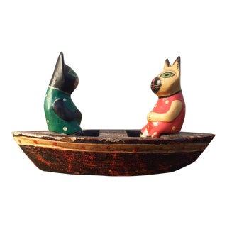 Fishing Cats Incense Burner