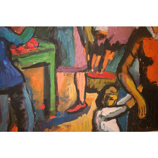 Image of French Expressionist Oil by Pierre Ambrogiani
