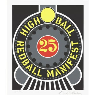 1997 Robert Indiana Highball on the Redball Manifest Serigraph