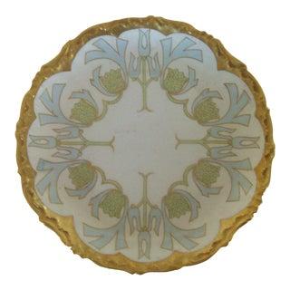 Limoges Art Nouveau 1900's Gold Edge Serving Plate
