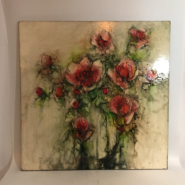 Image of Transitional 1960's Oil On Canvas Painting