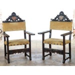 Image of Spanish Renaissance -Carved Side Chairs -A Pair
