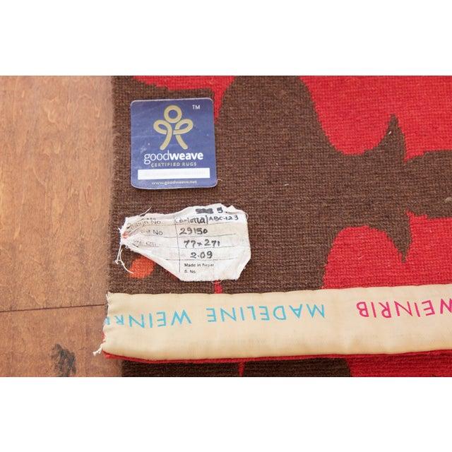 Image of Madeline Weinrib Red Carlotta Wool Rug - 2′6″ × 9′