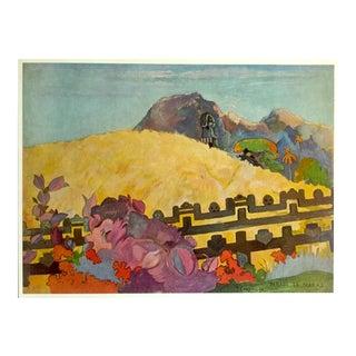 "1972 Gauguin Original Vintage ""Sacred Mountain Maori Legends"" Lithograph Print 1892"