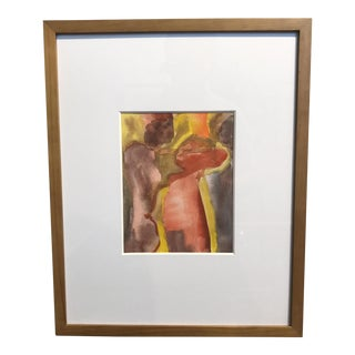 Vintage Abstract Watercolor Painting