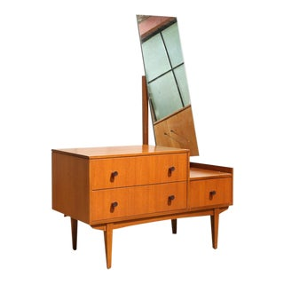 Small Mid Century Mirrored Dresser