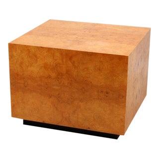 Mid-Century Olive Burl Pedestal Table