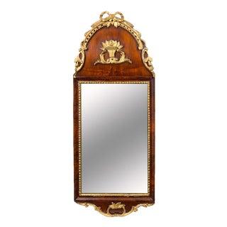 Parcel Gilt Burlwood Mirror