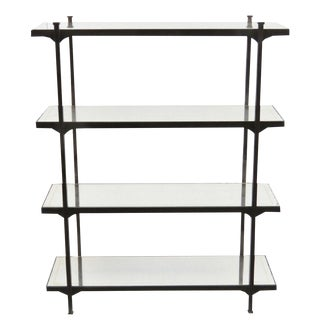 Modern Mirrored Shelf Iron Etagere