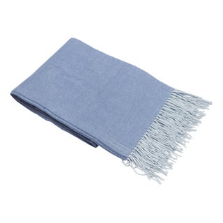 Blue & White Heathered Throw