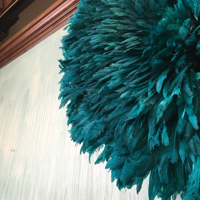 Turquoise Juju Hat Feather Wall Decor - Image 3 of 3