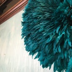 Image of Turquoise Juju Hat Feather Wall Decor