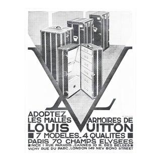 1931 Art Deco Louis Vuitton trunks print