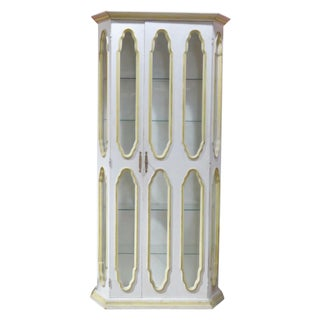 Allan Keith Distressed Painted Display Cabinet