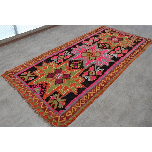 Camel Wool Rug Persian Rug Handwoven Kilim Area: Vintage Turkish Kilim Runner Rug Hand Woven Wool Large