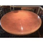 Image of Monumental Mid-Century Lacquered Round Table