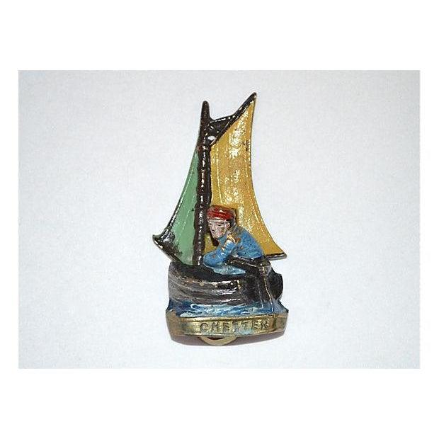 Original Enamel Sailboat Door Knocker - Image 2 of 11