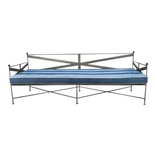 Metal Daybed with Vintage Upholstery