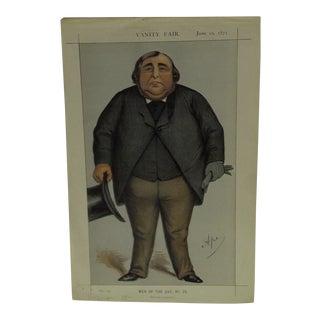 """Vintage """"Baronet or Butcher"""" Vanity Fair Print"""