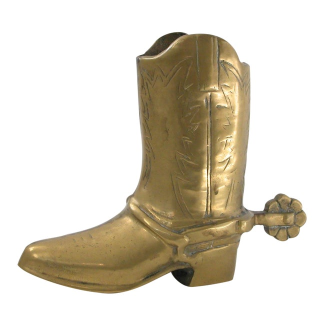 Image of Brass Cowboy Boot