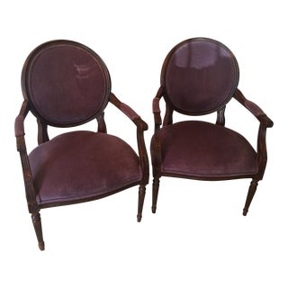 Ethan Allen Purple Side Chairs - Pair