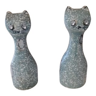 Mid-Century Siamese Cat Salt & Pepper Shakers