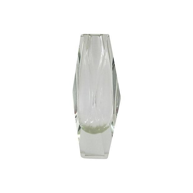 Image of Lime Faceted Glass Vase