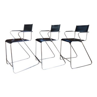 Mid-Century Modern Counter Stools - Set of 3