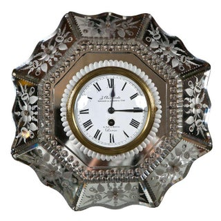 Venetian Glass Mirrored Clock