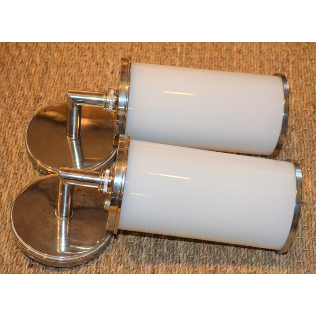 Visual Comfort Studio Cylinder Sconces - a Pair - Image 7 of 10