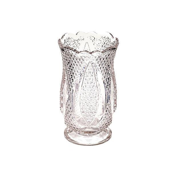 Image of Diamond-Point Designed Glass Celery