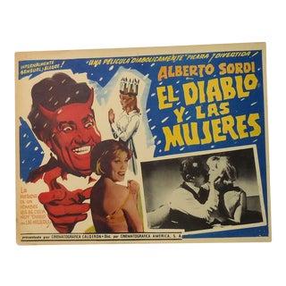 El Diablo Y Lar Mujeres Mexican Movie Poster