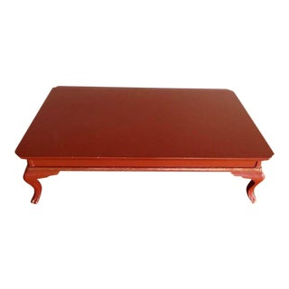 Contemporary Chinese Style Red & Gold Accent Coffee Table