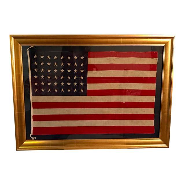 Rare Original 48 Star Newly Framed American Flag - Image 1 of 6