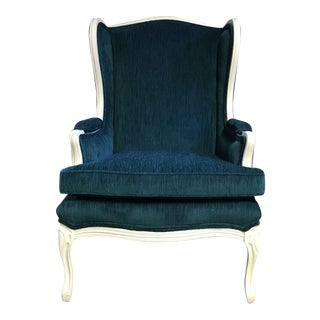Contemporary Peacock Wingback Chair