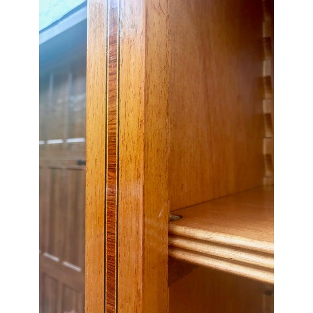 English Yew Wood & Satinwood Inlay Bookcase - Image 5 of 9