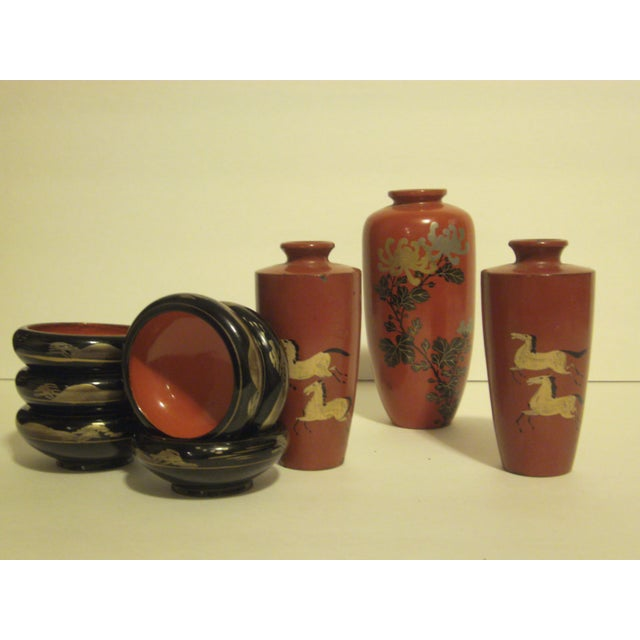 Antique & Vintage Japanese Lacquer-Ware - 9 - Image 3 of 11