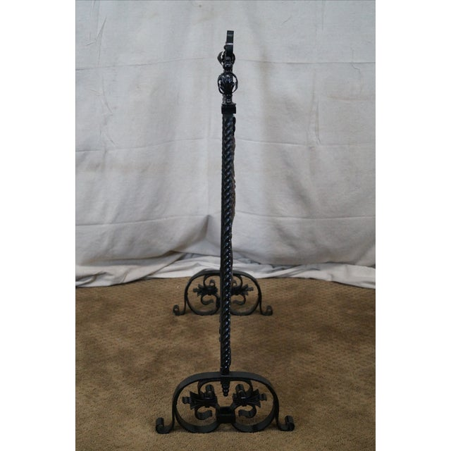 Image of Arts & Crafts Hand Wrought Iron Fire Screen