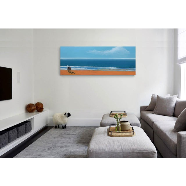 Small Sea With Couple Oil Painting - Image 8 of 10