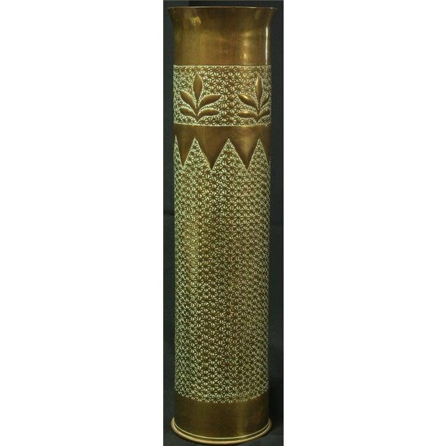 Antique Belgian Militaria Shell Case Brass Vases - Image 6 of 8