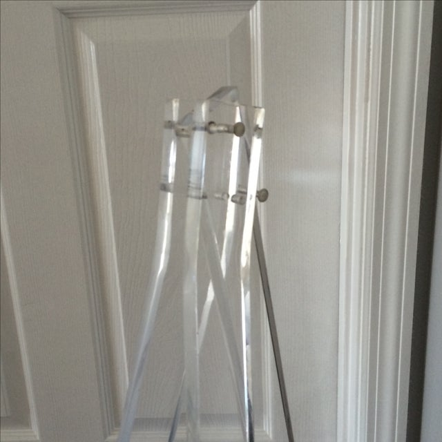 1970's Mid Century Modern Tall Lucite Art Easel - Image 5 of 7