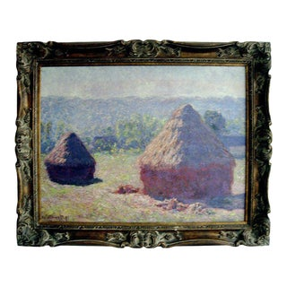 Large Giclee Print on Canvas of a Monet in Giltwood Frame