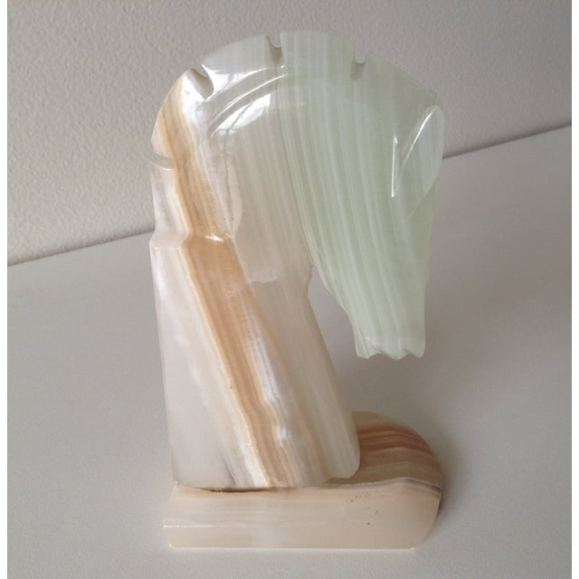 Vintage Onyx Trojan Horse Bookend - Image 2 of 9