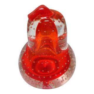 Alfredo Barbini Glass Pear Paperweight