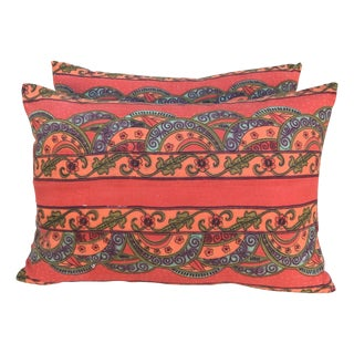Vibrant Printed Pillows - A Pair