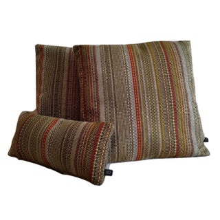 Maharam Point Peat & Greige Pillow Covers - Set of 3