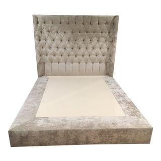 Kravet Chenille Upholstered Queen Bedframe